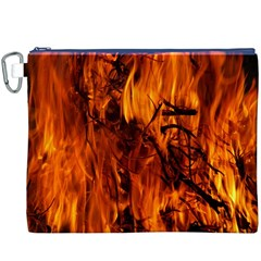 Fire Easter Easter Fire Flame Canvas Cosmetic Bag (XXXL)
