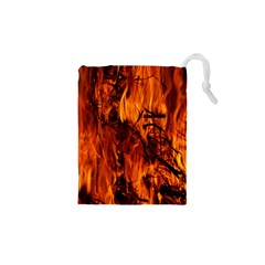 Fire Easter Easter Fire Flame Drawstring Pouches (XS)