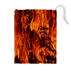 Fire Easter Easter Fire Flame Drawstring Pouches (extra Large)