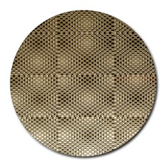 Fashion Style Glass Pattern Round Mousepads