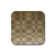 Fashion Style Glass Pattern Rubber Square Coaster (4 Pack)