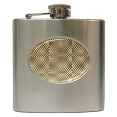 Fashion Style Glass Pattern Hip Flask (6 oz)