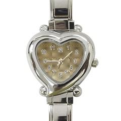 Fashion Style Glass Pattern Heart Italian Charm Watch