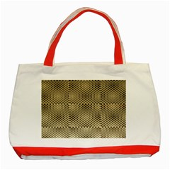Fashion Style Glass Pattern Classic Tote Bag (Red)