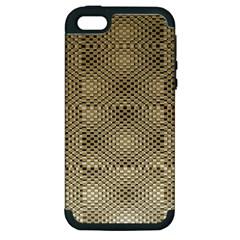 Fashion Style Glass Pattern Apple iPhone 5 Hardshell Case (PC+Silicone)