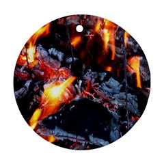 Fire Embers Flame Heat Flames Hot Ornament (Round)