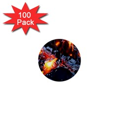 Fire Embers Flame Heat Flames Hot 1  Mini Buttons (100 pack)