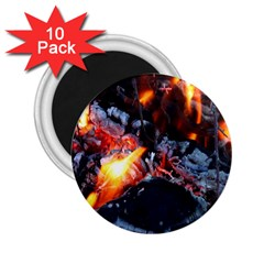 Fire Embers Flame Heat Flames Hot 2.25  Magnets (10 pack)