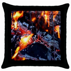 Fire Embers Flame Heat Flames Hot Throw Pillow Case (Black)