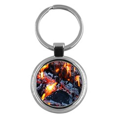 Fire Embers Flame Heat Flames Hot Key Chains (Round)