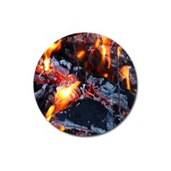 Fire Embers Flame Heat Flames Hot Magnet 3  (Round)
