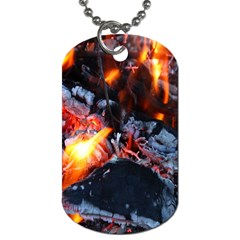 Fire Embers Flame Heat Flames Hot Dog Tag (one Side)