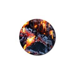 Fire Embers Flame Heat Flames Hot Golf Ball Marker