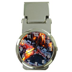 Fire Embers Flame Heat Flames Hot Money Clip Watches