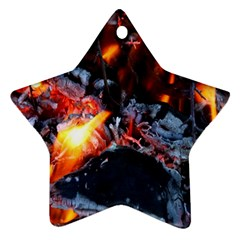 Fire Embers Flame Heat Flames Hot Star Ornament (Two Sides)