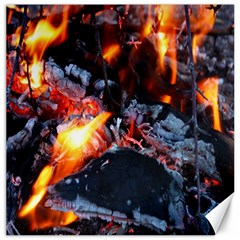 Fire Embers Flame Heat Flames Hot Canvas 16  X 16
