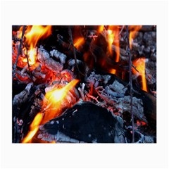 Fire Embers Flame Heat Flames Hot Small Glasses Cloth (2-Side)
