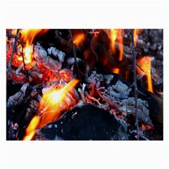 Fire Embers Flame Heat Flames Hot Large Glasses Cloth (2-Side)