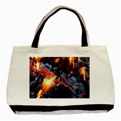 Fire Embers Flame Heat Flames Hot Basic Tote Bag (Two Sides)