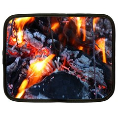 Fire Embers Flame Heat Flames Hot Netbook Case (Large)