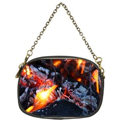 Fire Embers Flame Heat Flames Hot Chain Purses (One Side)