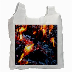 Fire Embers Flame Heat Flames Hot Recycle Bag (Two Side)