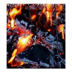 Fire Embers Flame Heat Flames Hot Shower Curtain 66  x 72  (Large)