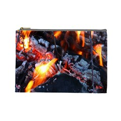 Fire Embers Flame Heat Flames Hot Cosmetic Bag (Large)