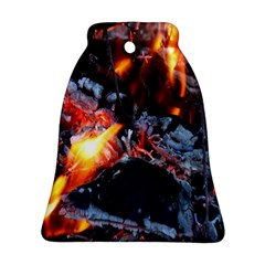 Fire Embers Flame Heat Flames Hot Bell Ornament (two Sides)