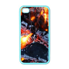 Fire Embers Flame Heat Flames Hot Apple iPhone 4 Case (Color)