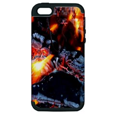 Fire Embers Flame Heat Flames Hot Apple iPhone 5 Hardshell Case (PC+Silicone)