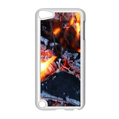 Fire Embers Flame Heat Flames Hot Apple iPod Touch 5 Case (White)