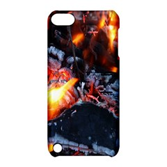 Fire Embers Flame Heat Flames Hot Apple Ipod Touch 5 Hardshell Case With Stand