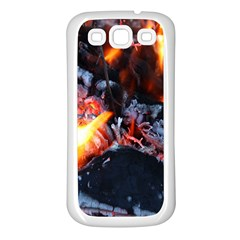 Fire Embers Flame Heat Flames Hot Samsung Galaxy S3 Back Case (white)