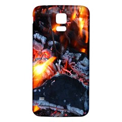 Fire Embers Flame Heat Flames Hot Samsung Galaxy S5 Back Case (White)