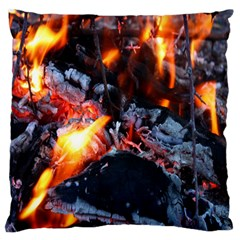 Fire Embers Flame Heat Flames Hot Large Flano Cushion Case (Two Sides)