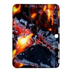 Fire Embers Flame Heat Flames Hot Samsung Galaxy Tab 4 (10 1 ) Hardshell Case