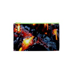 Fire Embers Flame Heat Flames Hot Cosmetic Bag (XS)