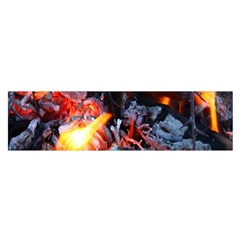 Fire Embers Flame Heat Flames Hot Satin Scarf (Oblong)