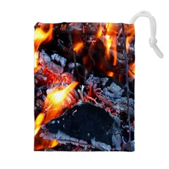 Fire Embers Flame Heat Flames Hot Drawstring Pouches (Extra Large)
