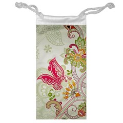 Floral Pattern Background Jewelry Bag