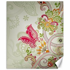 Floral Pattern Background Canvas 8  x 10