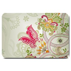 Floral Pattern Background Large Doormat