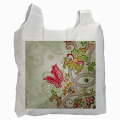 Floral Pattern Background Recycle Bag (Two Side)