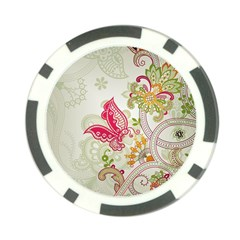 Floral Pattern Background Poker Chip Card Guard (10 pack)