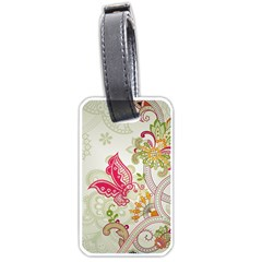 Floral Pattern Background Luggage Tags (One Side)