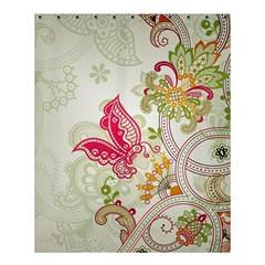Floral Pattern Background Shower Curtain 60  x 72  (Medium)