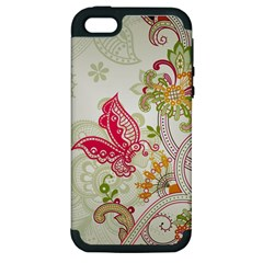 Floral Pattern Background Apple iPhone 5 Hardshell Case (PC+Silicone)