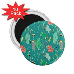 Floral Elegant Background 2.25  Magnets (10 pack)