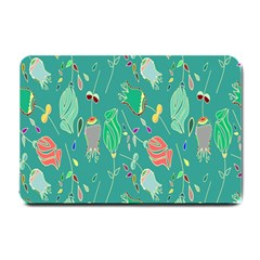 Floral Elegant Background Small Doormat
